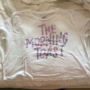 The Morning Toast Cropped Tee SZ L